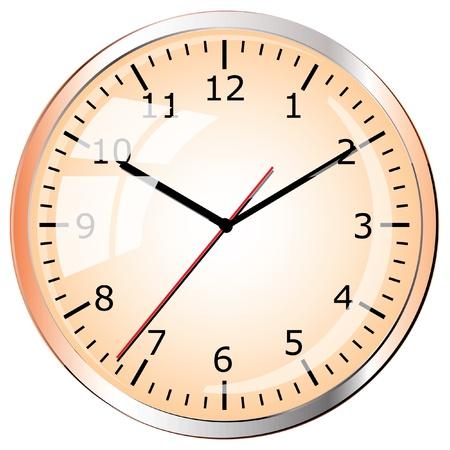Wall clock  Vector illustration  Stock Vector - 12912633
