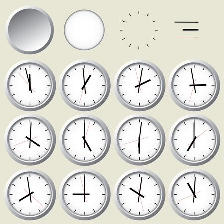 Wall clock  Vector illustration  Vector