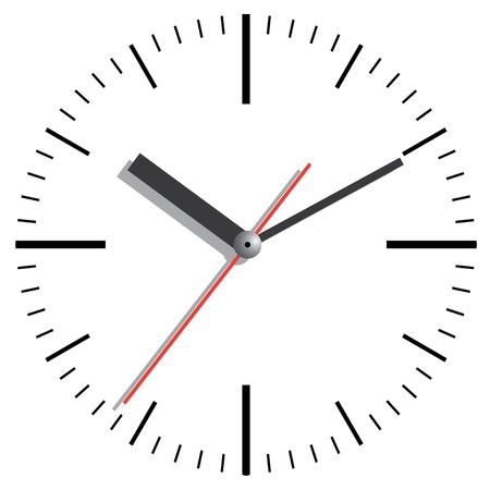 single object: Wall clock  Vector illustration