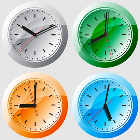 Wall clock  illustration  Vector