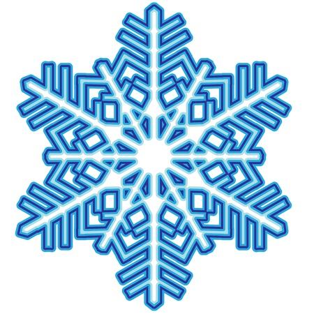 jednolitego: Dekoracyjne abstract snowflake Ilustracja