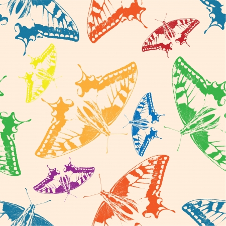 Seamless background of colorful butterflies  Vector