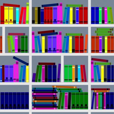 Bookshelves  Seamless texture  Stock Vector - 14953540