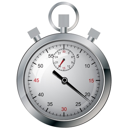 clock icon: Stopwatch  Vector illustration