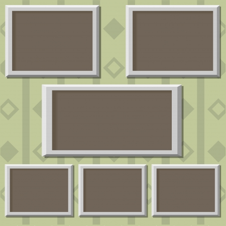 Picture frames on the wall  Vector