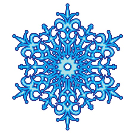 Decorative abstract snowflake Stock Vector - 15385341