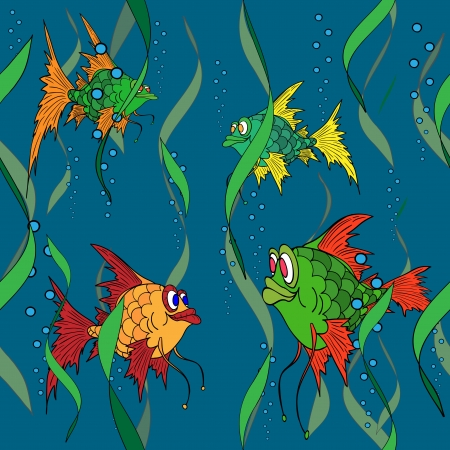 Fish in the sea  Seamless texture  Stock Vector - 16019543