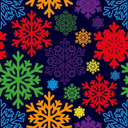 Christmas background  Snowflakes  Ilustração