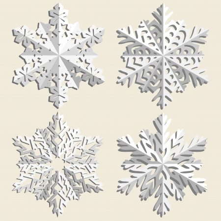 Christmas background  Snowflakes  Stock Vector - 16401616