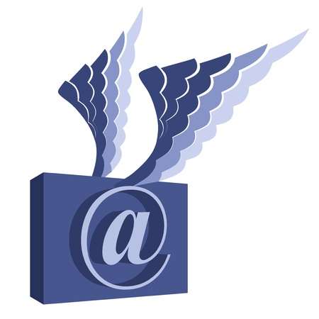 postoffice: Email symbol with wings   Illustration
