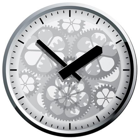Wall clock  Vector illustration  Stock Vector - 17836476