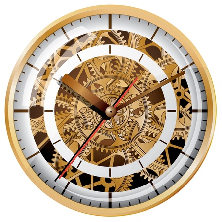 clock icon: Wall clock  Vector illustration