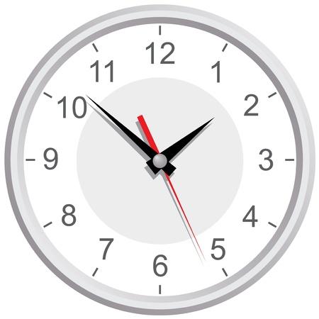 wall mounted: Wall mounted digital clock  Illustration