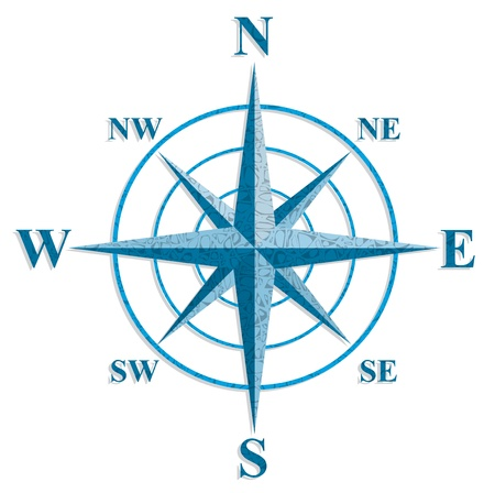Wind rose  The sign on the old maps  Vector