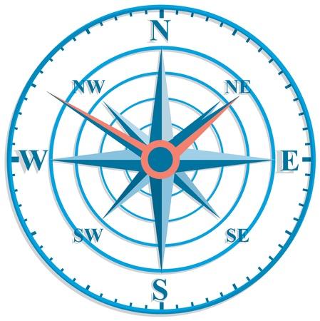 nautic: The original clock with wind rose