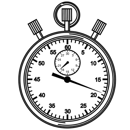 Stopwatch  Vector illustration  Vector