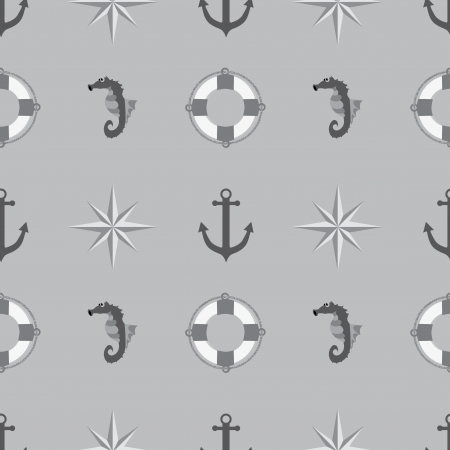 Seamless texture. The maritime theme. Vector