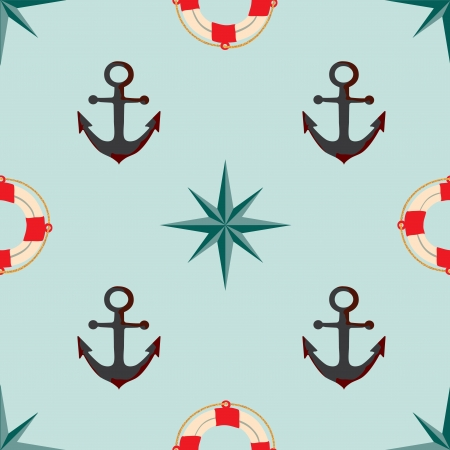 Seamless texture. The maritime theme. Vector