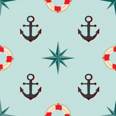 Seamless texture. The maritime theme. Stock Vector - 20641786