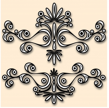 Calligraphic design elements and elements decor. Vector