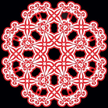 Schöne Lochmuster. Die kreisförmige Hintergrund. Vektor-Illustration / Standard-Bild - 21016708