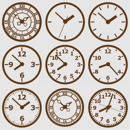 wall mounted: Wall mounted  clock. Vector illustration. Illustration