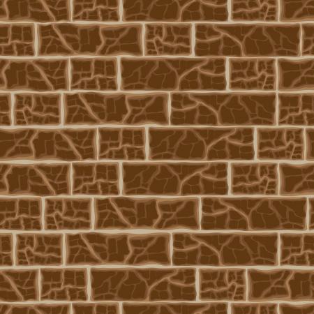 Brick wall background, vector illustration Vector