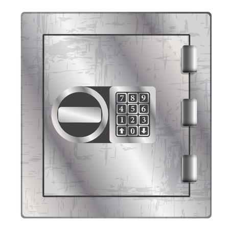 valuables: Metallic safe for storage of valuables. Vector illustration. Illustration