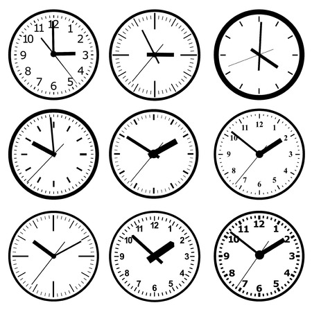 orologio da parete: Parete orologio digitale Vettoriali
