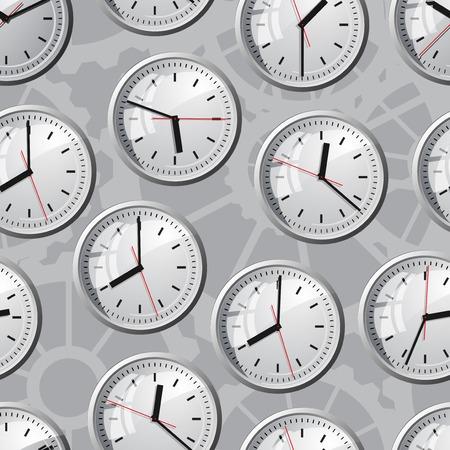 wall mounted: Wall mounted digital clock. Vector illustration. Seamless