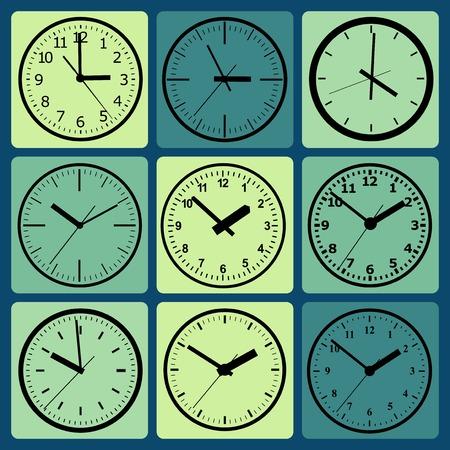wall mounted: Wall mounted digital clock  Vector illustration