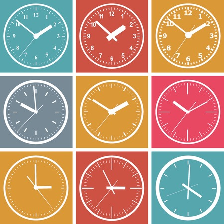 orologio da parete: Parete orologio digitale. Illustrazione vettoriale.