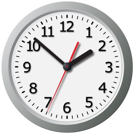 wall mounted: Wall mounted digital clock. Vector illustration.