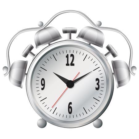 Old mechanical alarm clock. Vector illustration. Vector