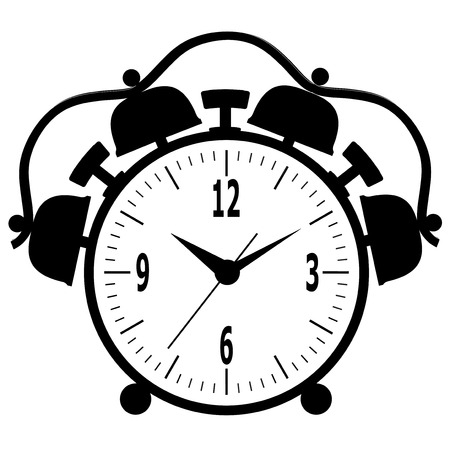 Old mechanical alarm clock. Vector illustration. Vector