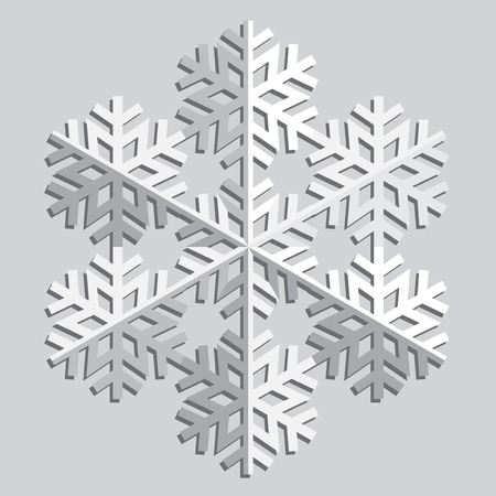 Decorative abstract snowflake. Vector
