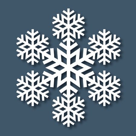 Decorative abstract snowflake. Vector illustrayion Vector