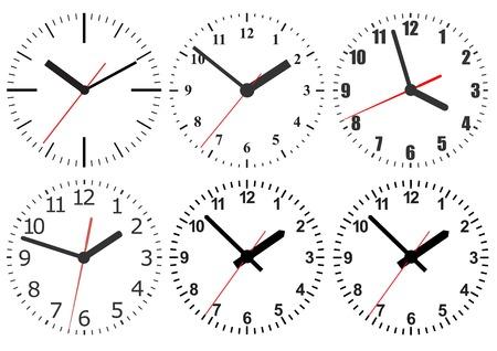 Wall mounted digital clock. Illustration