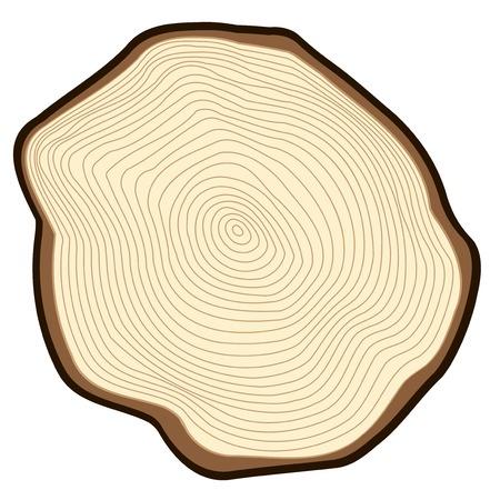 Corte de un árbol. Ilustración de vector