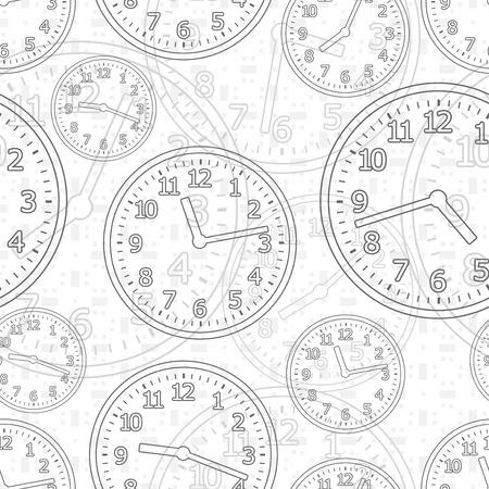 digital clock: Wall mounted digital clock. Illustration