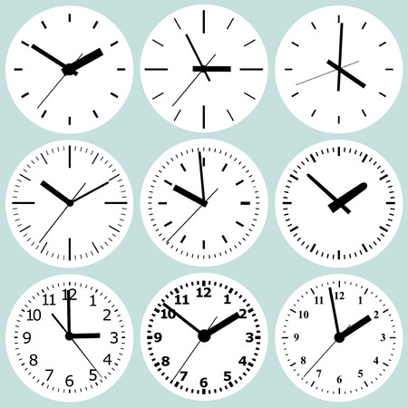 variants: Several variants of abstract watch dials.