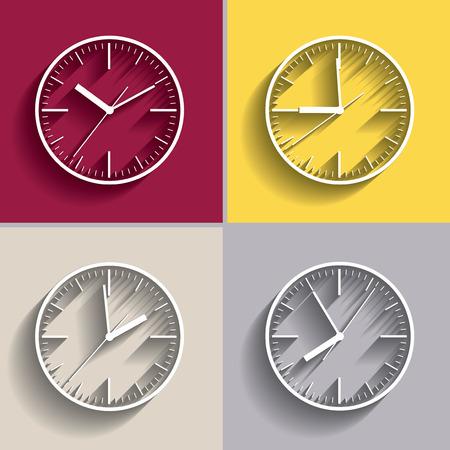 抽象的な時計のいくつかの変種をダイヤルします。