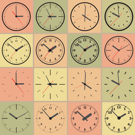 clock face: Several variants of abstract watch dials.
