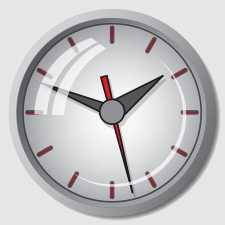 wall mounted: Wall mounted digital clock. Illustration