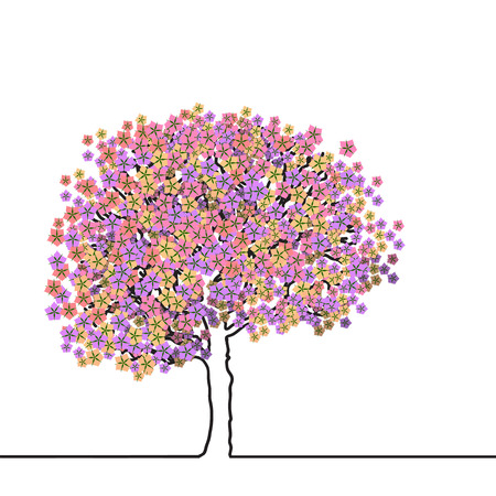 waking: Tree covered with flowers. Waking Life.