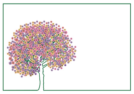 waking: Waking Life. Tree covered with flowers.