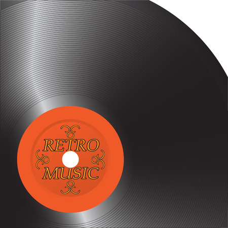 disk jockey: The old record. Vinyl is a classic. Illustration