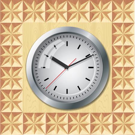 threaded: Clock located on threaded plate geometry. Illustration
