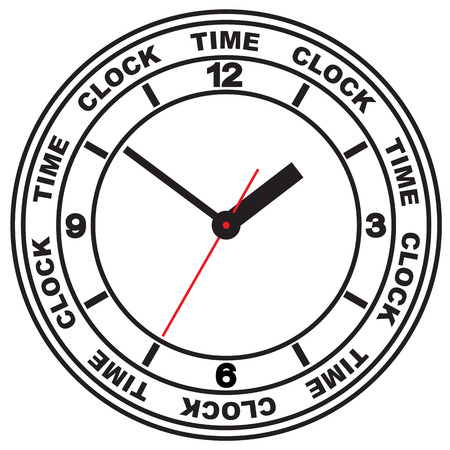 Image clock dial. Scheme relations and arrows denote time.