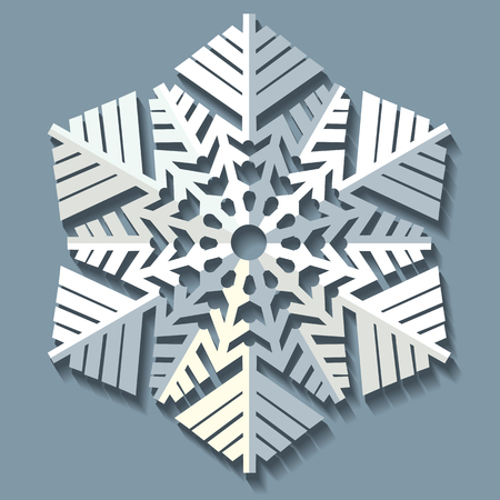 christmas concept: Decorative abstract snowflake. Vector illustration Illustration